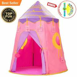 SUPEARTH Kids Tent Play Tent Toddler Girl Magic Castle Tents Foldable Pop Up ...