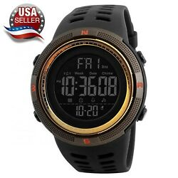 Men#x27;s Sport Army Military Alarm Calendar Dual 50M Waterproof Digital Wrist Watch $11.45
