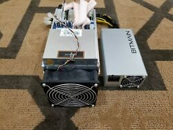 Bitmain Antminer B3 1000 KHs with a new PSU Power Cord Cat5 cable