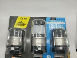 Cascade Mountain Tech Collapsible Bright LED Lantern 3pk With 4 Light Modes