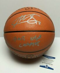 Andrew Bogut Signed Spalding Game Ball Series Basketball quot;2015 NBA Champquot; BAS $168.71