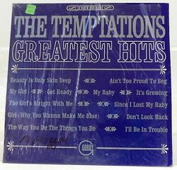 The Temptations Greatest Hits Shrink Cover NM Vinyl is in Poor Condition