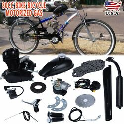 80cc Bike Bicycle Motorized 2 Stroke Petrol Gas Motor Engine Kit Set Black USD