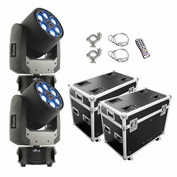 CHAUVET DJ Intimidator Trio LED Moving Head Stage Light - Pair with ProX Case