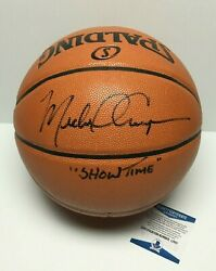 Michael Cooper Signed Spalding Game Ball Series Basketball quot;Showtimequot; BAS L13111 $149.96