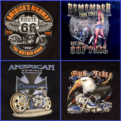 Harley Davidson T Shirts MensGraphic Tee#x27;s Many More Route 66 $23.99