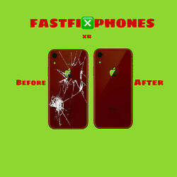IPHONE XR BACK GLASS REPLACEMENT: FAST SERVICE $38.00