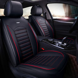 5 Seats Universal Car Seat Covers Deluxe PU Leather Seat Cushion Full Set Cover $98.09
