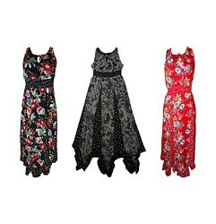 Womens BILA Floral Maxi Dress a tie Keyhole Neck Variety of Sizes and Colors $22.99