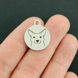 Corgi Stainless Steel Charms Dog Breed Quantity Options BFS3854 $3.05