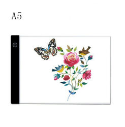 Dimmable A5 LED Light Box Tracing Board Art Stencil Drawing Copy Pad Table