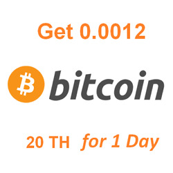 Get Instant 0.0012 BTC . Bitcoin Mining Contract $18.32