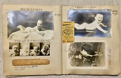 ANTIQUE VINTAGE 1935 BABY BOOK FILLED OUT WITH MILESTONES FIRSTS