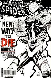 THE AMAZING SPIDER-MAN #568 - BLACK AND WHITE SKETCH VARIANT - NEW WAYS TO DIE