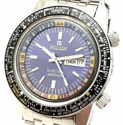 Ricoh - World Time GMT - 61215A Automatic 21 Jewels 1970-1979 Men's Wrist Watch