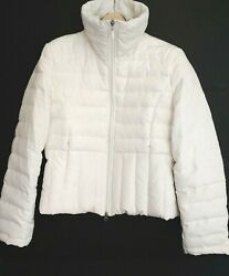 Kenneth Cole Reaction Down & Feather Puffer Zip Up Ski Jacket Women's Size M