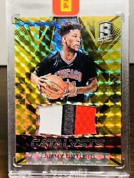 201617 Spectra Jimmy Butler Gold Prizm 11 One Of One 3 Color Patch Black Box