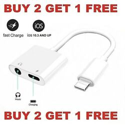 Dual Adapter for iPhone Charger & Headphone 3.5mm Jack for iPhone 7 8 X XR XS 11 $6.49