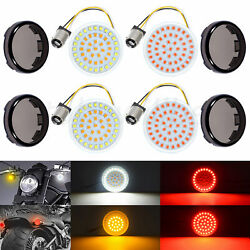 2 Pairs 1157 Bullet SMD Turn Signals Running Lights Smoke Lens Fit for Harley $28.85