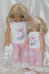 Dress Outfit for 14inch Wellie Wishers 18inch American Girl Doll Clothes Unicorn $17.95