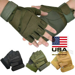 US Men Army Military Tactical Shooting Motorcycle Hunt Half amp; Full Finger Gloves $12.99
