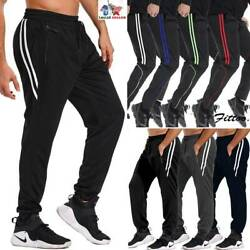 Men's Slim Fit Tracksuit Gym Sport Skinny Jogging Joggers Sweat Pants Trousers U
