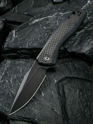 Civivi Baklash Black G10/Carbon Fiber Folding 9Cr18MoV Steel Pocket Knife 801I $51.00