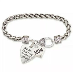 "BRIGHTON BEACH ""A Heart That Loves"" Mom Charm Bracelet"