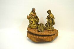 Wooden Musical Nativity Set Made In Italy Plays Silent Night Christmas Decor