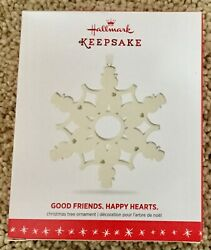 Hallmark. 2016  GOOD FRIENDS HAPPY HEARTS. Porcelain Snowflake