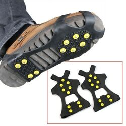 Pair Ice Snow Shoe Spikes Grips Crampons Cleats Hiking Fishing Climbing $10.19