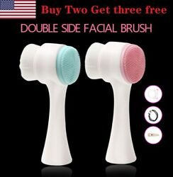 5PCS USA Silicone Face Cleansing Brush Facial Cleanser Pore Cleaner Exfoliator  $8.75