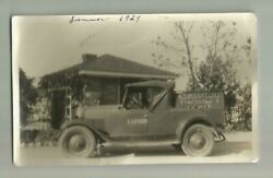 1929 I LESTER SERV-ICE ARTIFICIAL ICE DELIVERY PICKUP TRUCK CHEVROLET MERCED CA