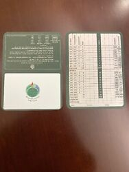 Two (2) Golf Scorecards from Butler National Golf Club!