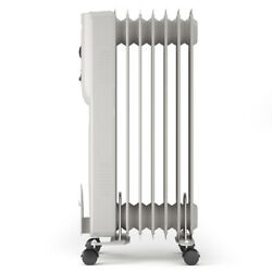 1500W Portable Radiator Heater 7-Fin Electric Oil Filled Home Office Thermostat $49.89