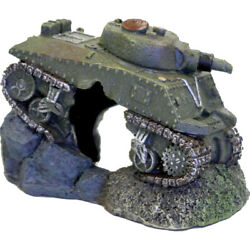Blue Ribbon Pet Green Exotic Environments Army Tank With Cave 030157015893