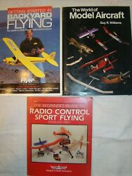 LOT 3 BOOKS MODEL AIRCRAFT amp; RADIO CONTROL FLYING GUIDE TO SMALL ELECTRIC PLANES $19.95