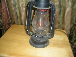 Dietz Oil Barn Lantern #20 Converted to Electric Streaming Red Light $84.95