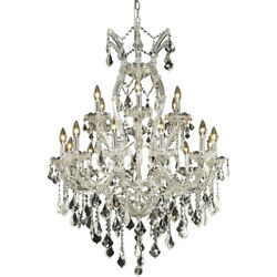 2800 Maria Theresa Collection Chandelier D:32in H:42in Lt:19 Chrome Finish (S...