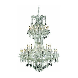 2800 Maria Theresa Collection Chandelier D:46in H:64in Lt:36 Chrome Finish (S...