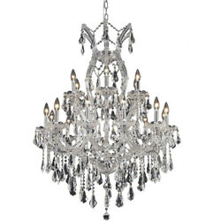 2801 Maria Theresa Collection Chandelier D:32in H:42in Lt:19 Chrome Finish (S...