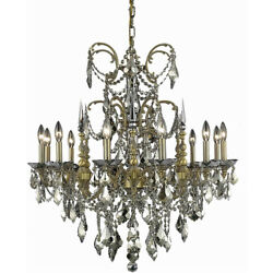 9712 Athena Collection Chandelier D:32in H:33in Lt:12 French Gold Finish (Swa...