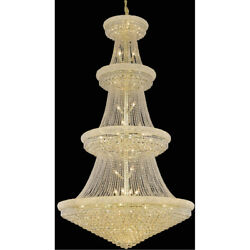 1800 Primo Collection Chandelier D:54in H:96in Lt:48 Gold Finish (Royal Cut C...