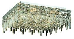 Maxime 12 light Chrome Flush Mount Clear Swarovski Elements Crystal