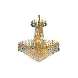 8031 Victoria Collection Chandelier D:24in H:24in Lt:11 Gold Finish (Swarovsk...