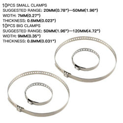 Set of 20 Universal Adjustable Axle CV Joint Boot Crimp Clamps Small Large Kits $15.99