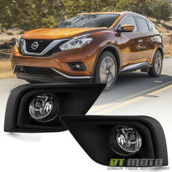 Fits 2015-2018 Murano Bumper Fog Lights Driving Lamps+Switch 15-18 left+Right $49.50