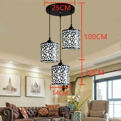 Modern Ceiling 3 Heads Chandelier Lighting Fixture Pendent Lamp Home Dining Room