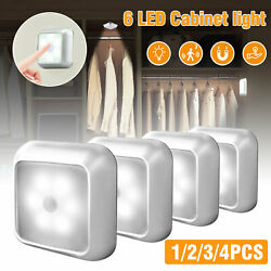 6LED Motion Sensor Closet Light Wireless Night Wall Cabinet Battery Power Indoor $22.97