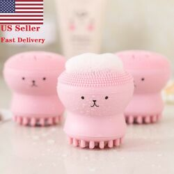 2PCS USA Silicone Face Cleansing Brush Facial Cleanser Pore Cleaner Exfoliator  $6.99